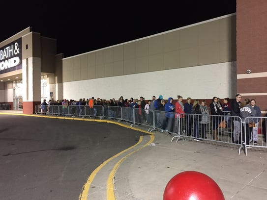 The line outside Target on the Vestal Parkway at around