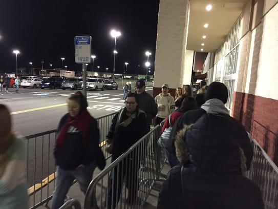 At 6 a.m., shoppers were let into Target on the Vestal
