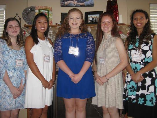Debutantes Sarah Kurtz (left to right), Cassidy Chen,