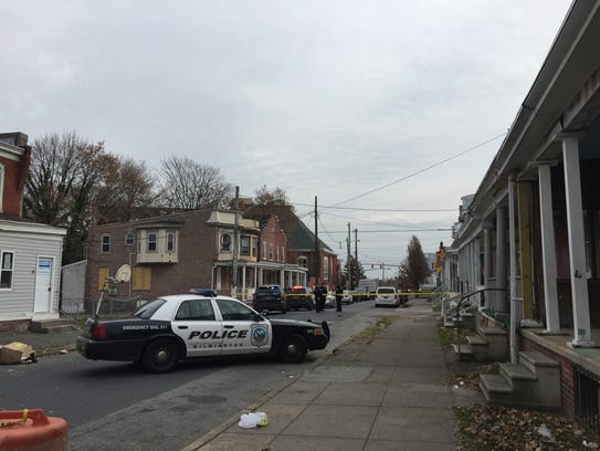 Police were dispatched to Tatnall and West 27 Street after reports of a shooting on Saturday.