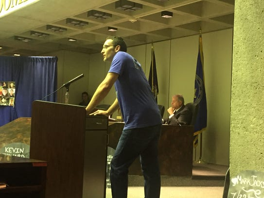 Matthew Coon, of Port Crane, spoke in support of the