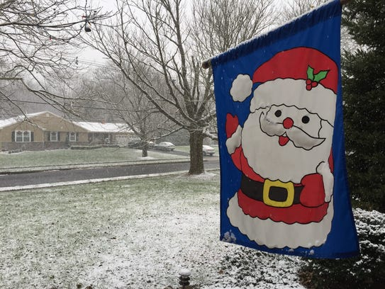 Snowfall in Freehold Township, Saturday, Dec. 9, 2017.