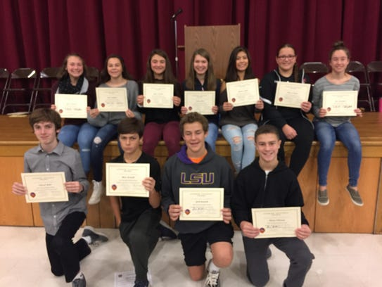 Pictured are the fall award winners:  Bottom Row: Edward