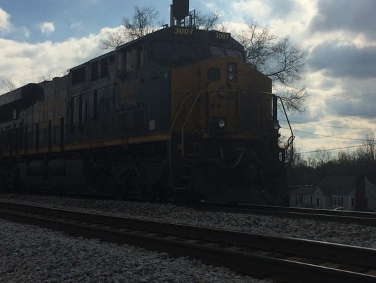 CSX officials moved a train involved in a Tuesday morning