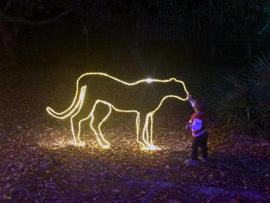 ZooLights opens Friday and continues nightly through