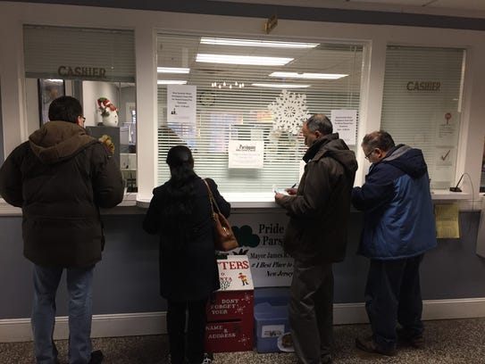Parsippany residents line up to pre-pay their 2018