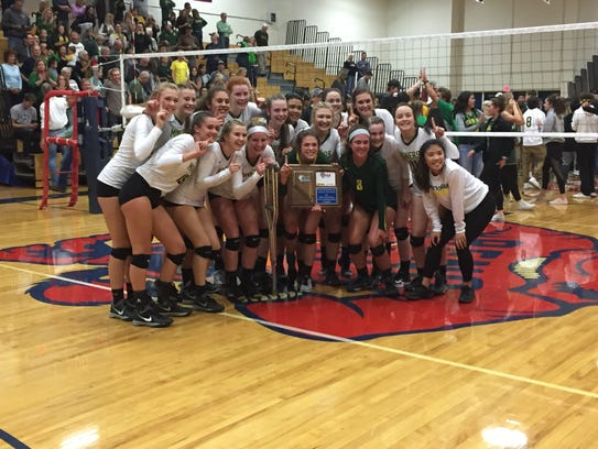 Manogue won the Northern 4A Region volleyball title.