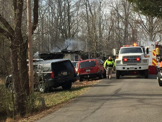 A fire reportedly began around 7:50 a.m. Friday, /dec.