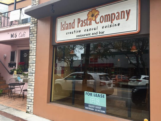 Island Pasta Company, an anchor restaurant in downtown Melbourne for 18 years, announced its closure on New Year's Eve.