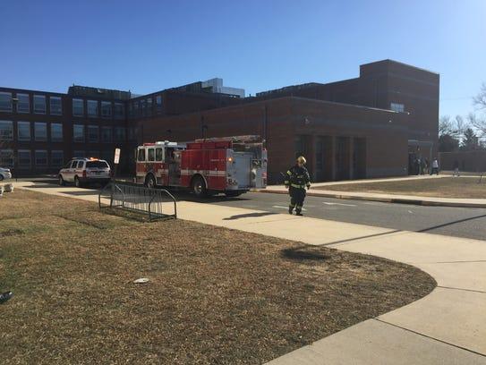 Firefighters responded to Veterans Memorial Intermediate