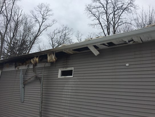 A fire broke out in a group of trailers across from