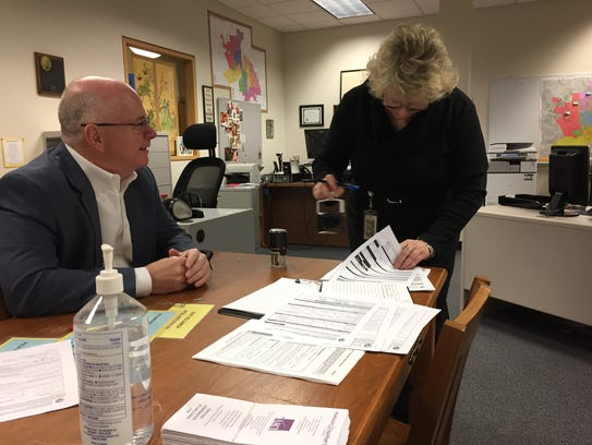 Christa Coffey stamps Commissioner Tracy Brown's candidate