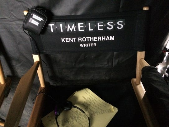 """For the """"Timeless"""" episodes he writes, Kent Rotherham"""