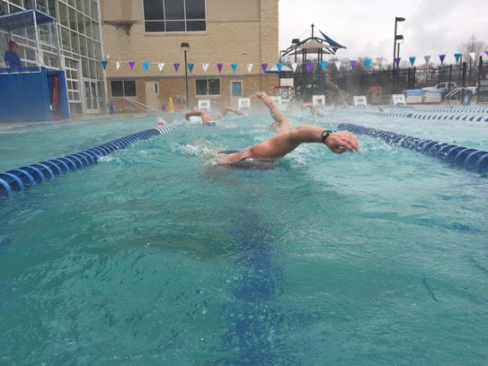 The 2018 Frozen Frogman Swim at the Hockessin Athletics