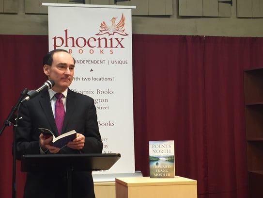 Chris Bohjalian speaks Tuesday night at an event celebrating