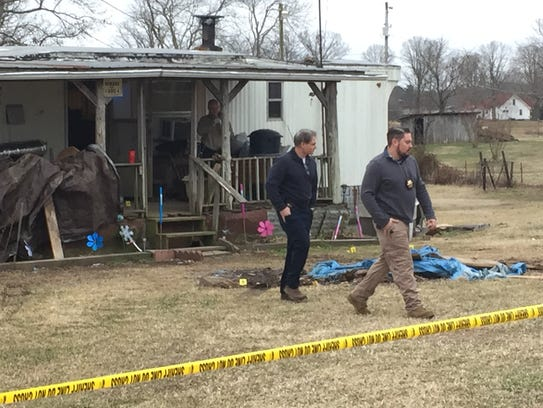Montgomery County Sheriff's Office investigators at