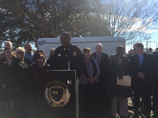 Shreveport Police Chief Alan Crump thanked six organizations