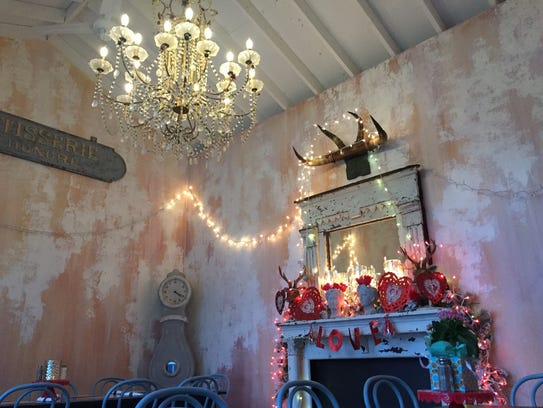 The romantic setting at  The Lemon Bar, a cafe and