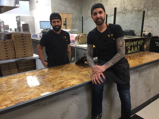 Sabri Arslankara, left, and Batuhan Zadeh are 27-year-old cousins who opened the new Pizzava pizzeria in Midtown Reno in January 2018. The shop is open and offers delivery until 2 a.m. daily.