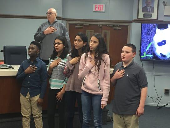 Veterans Memorial Intermediate School students lead