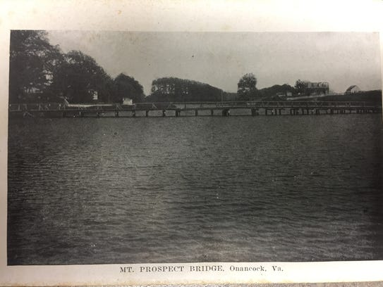 An undated photograph of the Mount Prospect Bridge
