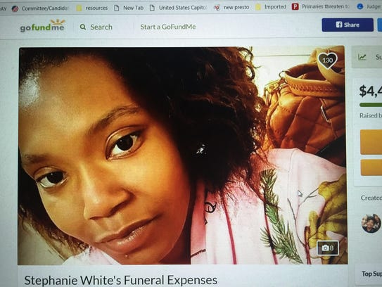Stephanie White of Burlington City died Jan. 4 when a car she was riding in plunged into the Delaware River.