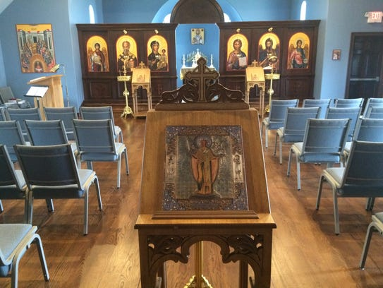 The sanctuary of St. Nicholas Orthodox Christian Church