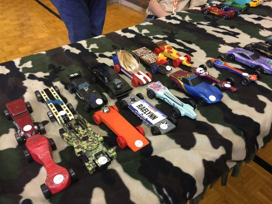 Participants in the annual Pinewood Derby, held at