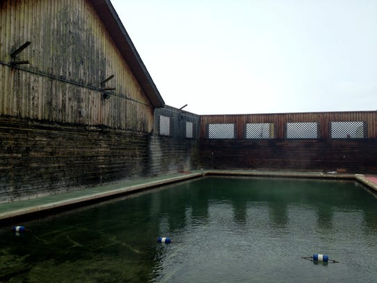 The pool at Jackson Hot Springs in Jackson near the
