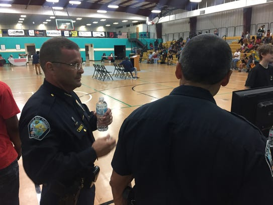 Palm Bay Police Chief Jim Rogers attended Sunday's