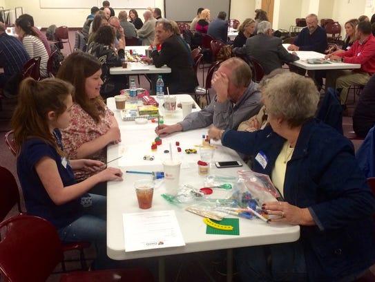Attendees at Monday night's Main Street Ohio program
