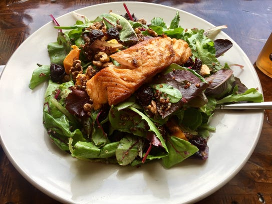 Salmon Salad at Harvest Cafe in Sheboygan.