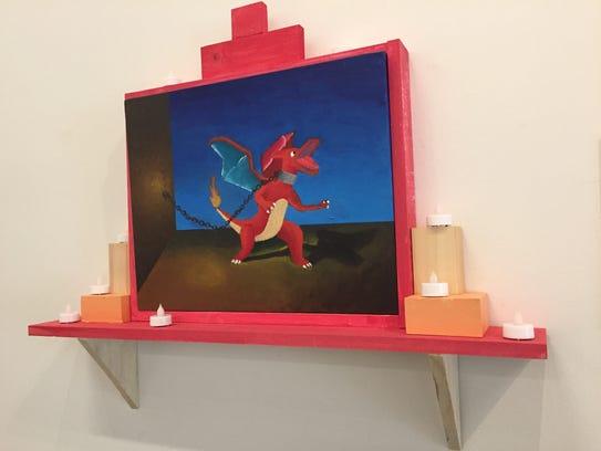 Ricardo Olvera painting