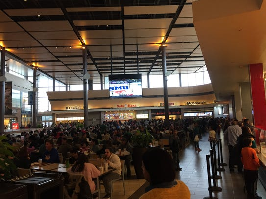 The food court at Christiana Mall on a recent Saturday