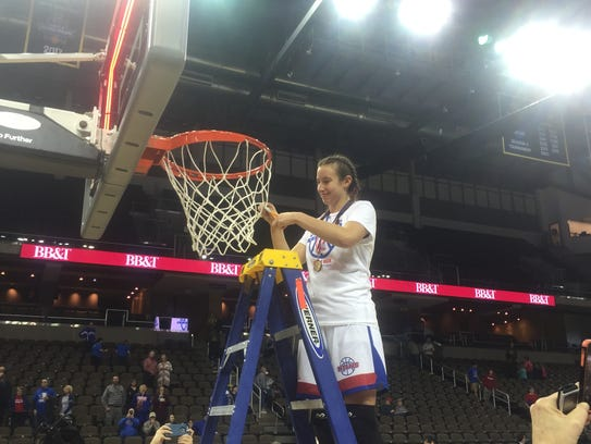 Seygan Robins gets her piece of the net after leading