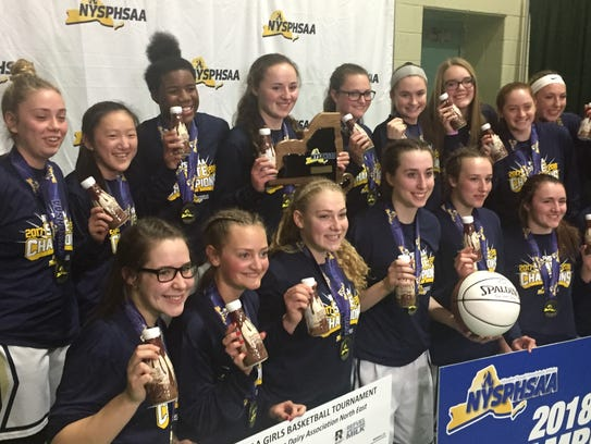 Susquehanna Valley players celebrate with chocolate