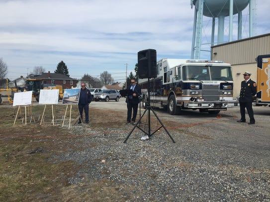 Steven Laughman, President of Alpha Fire Company, starts