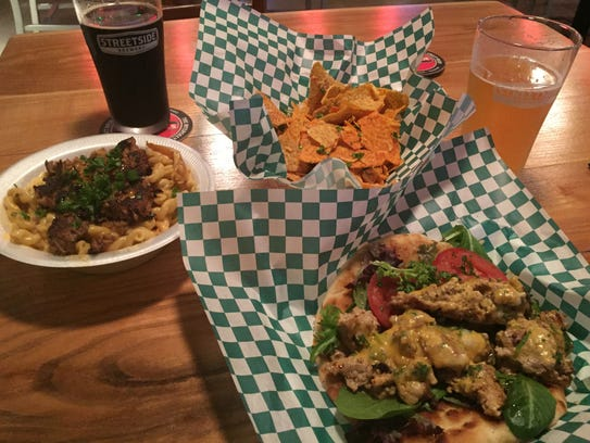 Curry chicken pita, carnitas mac n' cheese and jacked-up