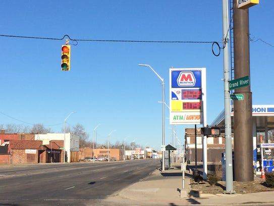 An 8-year-old girl was shot near this gas station at