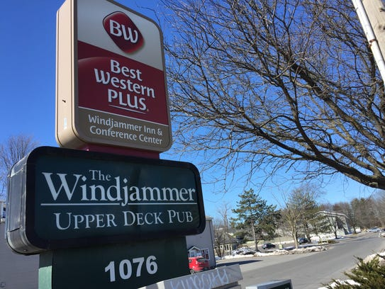 The Windjammer restaurant and hotel complex is off