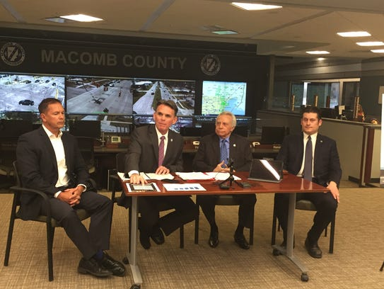 Left to right: Macomb  County Commission Chairman Bob