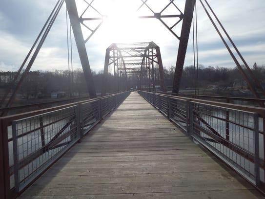 The Sutliff Bridge near the Cedar River Crossing near