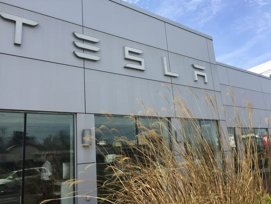 Electric-car maker Tesla opened its first South Jersey