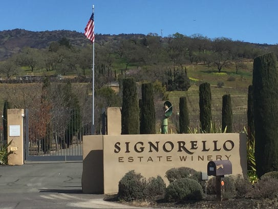 The gates to Signorello Estate Winery stand shut in