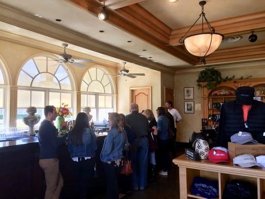 Visitors fill the bar of the tasting room at Ferrari-Carano