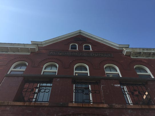 The Accomack County Circuit Courthouse in Accomac,