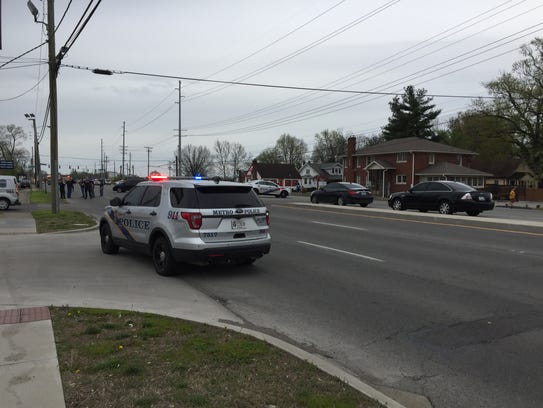 Scene of a reported shooting near Bardstown Road and