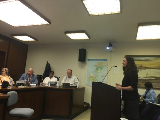 Shannon Alexander speaks to the Accomack County Board