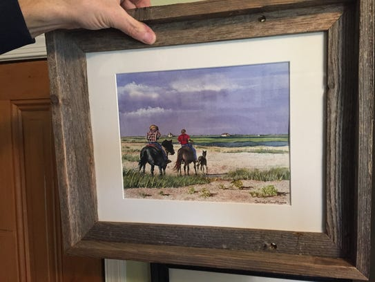 Artist Daniel P. Turner Thomas  is having his first