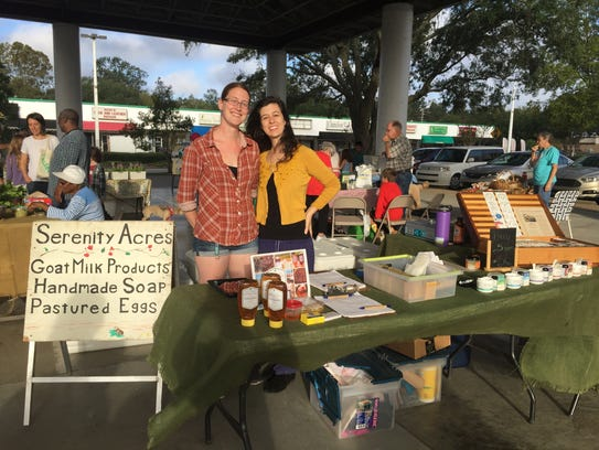 Serenity Acres booth at the Tallahassee Farmers Market